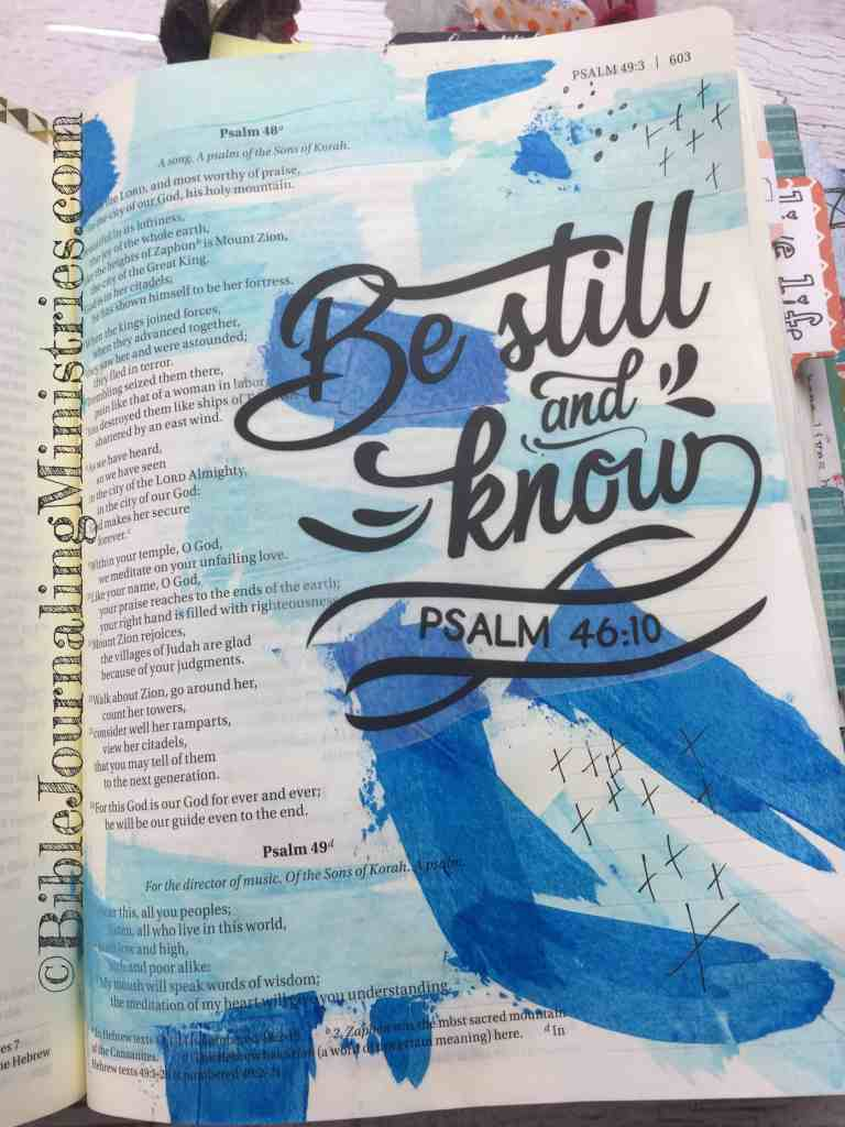 Bible Journaling Psalm 46:10