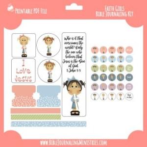 Faith Girls Digital Bible Journaling Kit