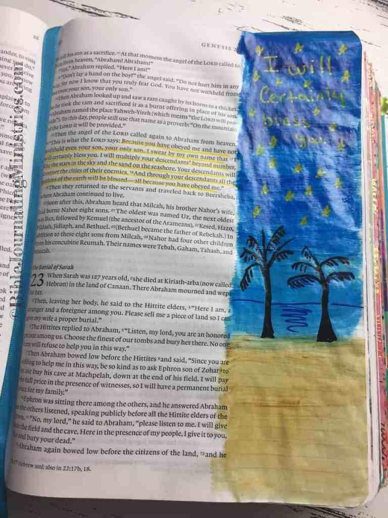 Bible Journaling Genesis 22:16-18