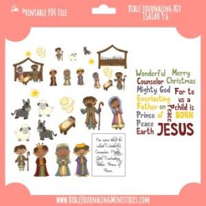 Isaiah 9:6 - A Child Is Born Digital Bible Journaling Kit