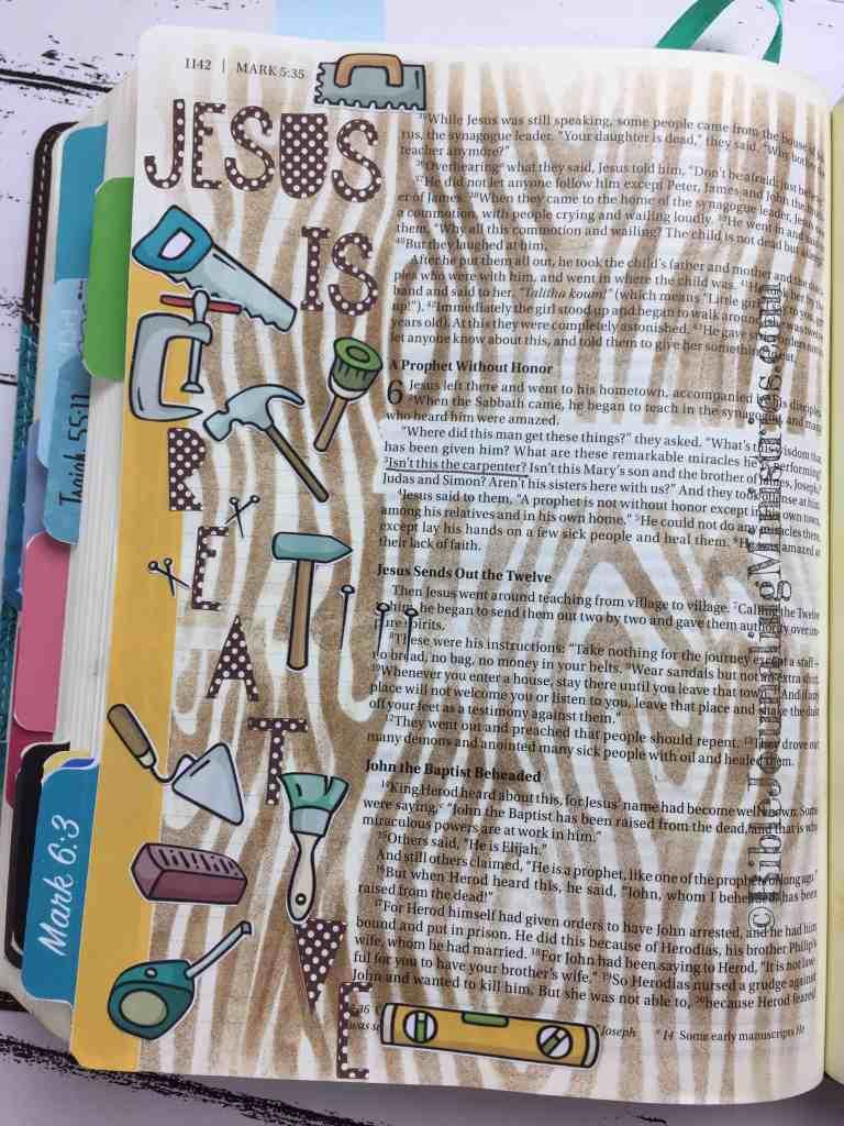 Bible Journaling Mark 6:3