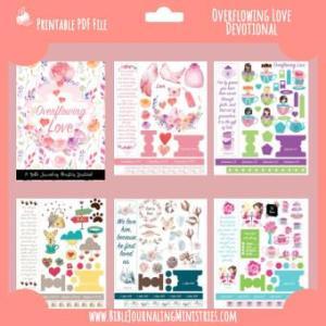 Overflowing Love Bible Journaling Kit - February 2018 Kit