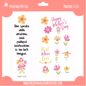 Proverbs 31 - Mother's Day Digital Bible Journaling Kit