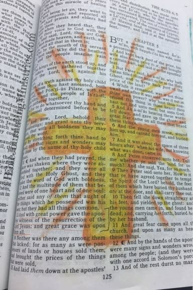 Bible Journaling Acts 4.33