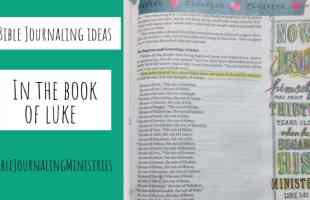 Bible Journaling Ideas in the Book of Luke