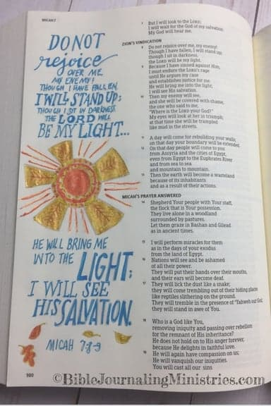 Bible Journaling in the Book of Micah Micah 7.8