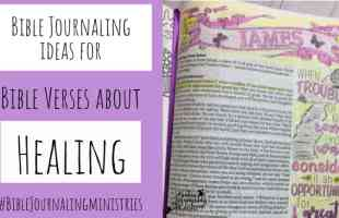 Bible Journaling Ideas for Bible Verses About Healing