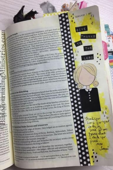 Bible Journaling with the Creative Faith Crew Ezra 3.11