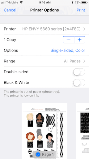 How to print a pdf file from an iphone step 6
