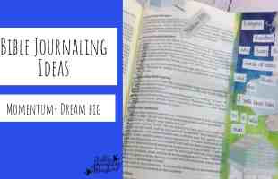 Bible Journaling with the Momentum Dream Big Kits