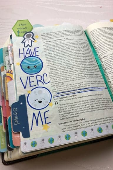 Joining the Be Courageous – A Bible Journaling Devotional John 16:33