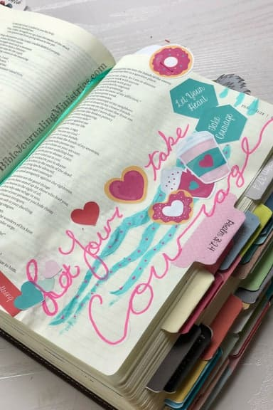 Joining the Be Courageous – A Bible Journaling Devotional