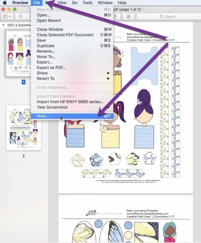 how to print pdf