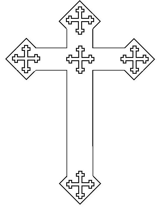 Cross With Flowers Coloring Pages For Adults. Cross. Best