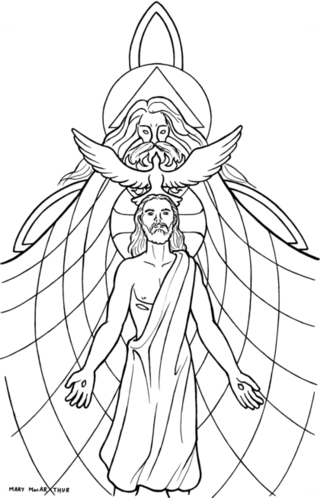 Holy Trinity Coloring Page Free Printable Pages Sketch