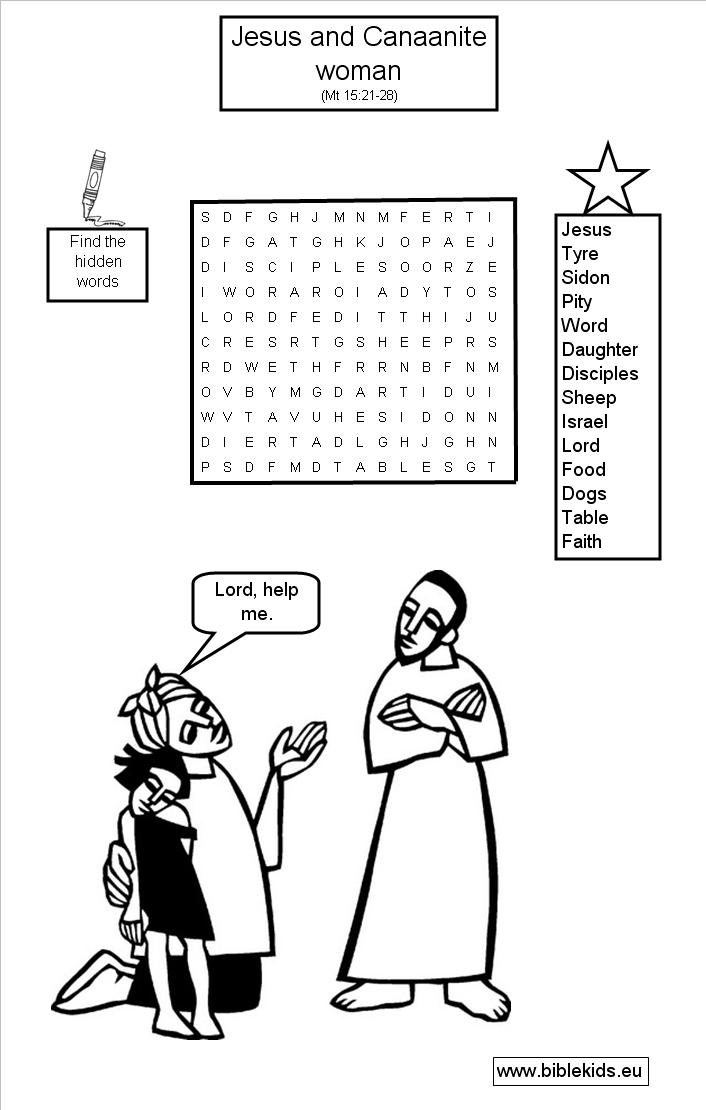 Bible Word Search Puzzle of the Week
