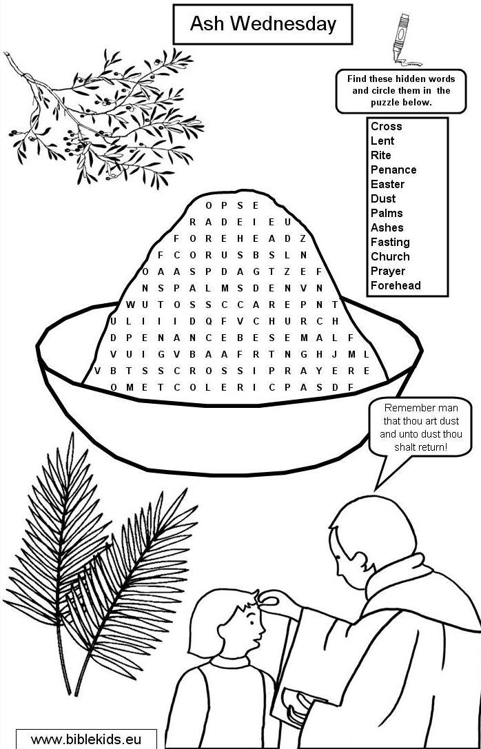 Ash wednesday wordsearch puzzles-biblekids.eu