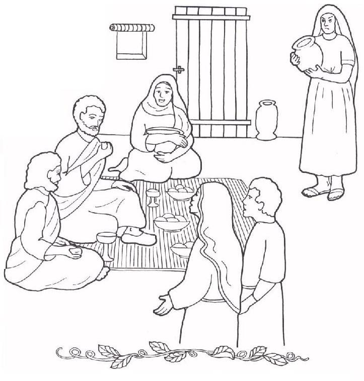 1000+ images about Mary and Martha Coloring Pages on Pinterest