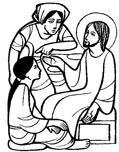 Mary and martha, Pictures of jesus and Coloring pages on