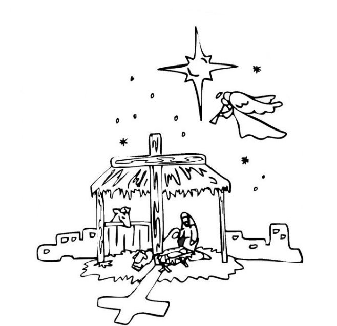 Cityscape Of Of City Of Bethlehem Coloring Pages