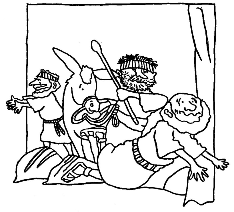 Good Samaritan Bible Coloring Pages Coloring Pages