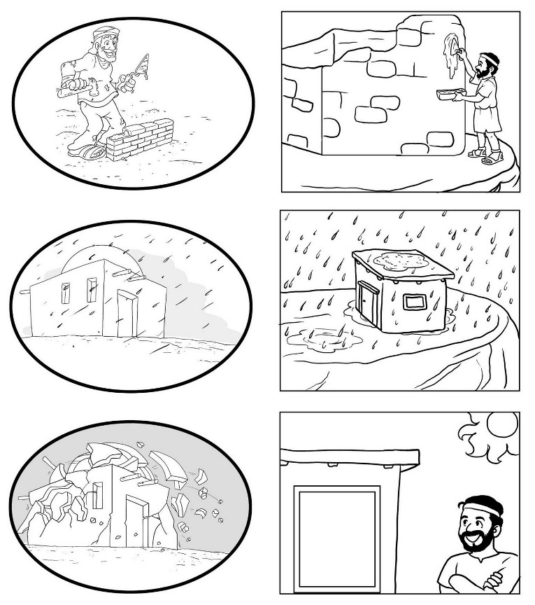 Free wise and foolish builders coloring pages
