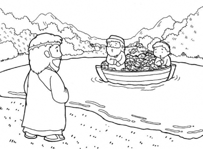 First Disciples Of Jesus Coloring Pages Calls His Sketch