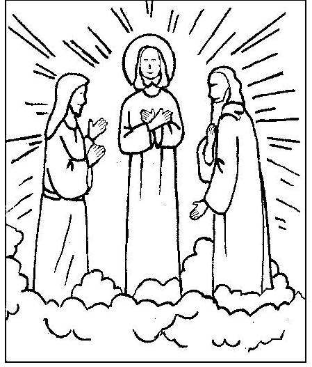 Mount Of Transfiguration Coloring Page Coloring Pages