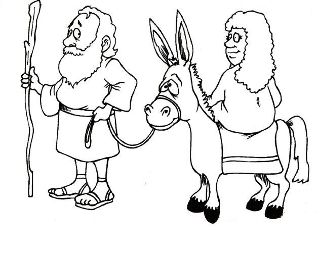 Mary And Joseph Bible Story Coloring Pages Sketch Coloring