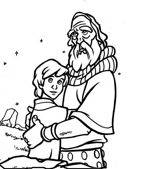 Free abraham and isaac coloring pages