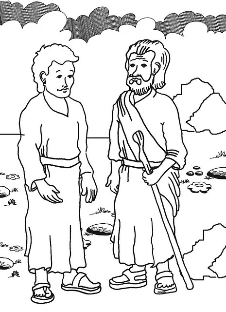 Bible Coloring Pictures For Naaman Coloring Pages