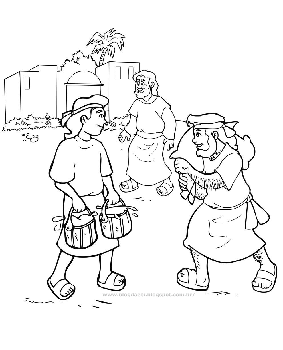 Free coloring pages of esau bible story