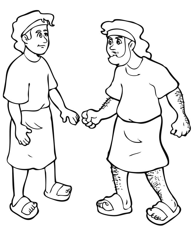 Free coloring pages of isaac and jacob