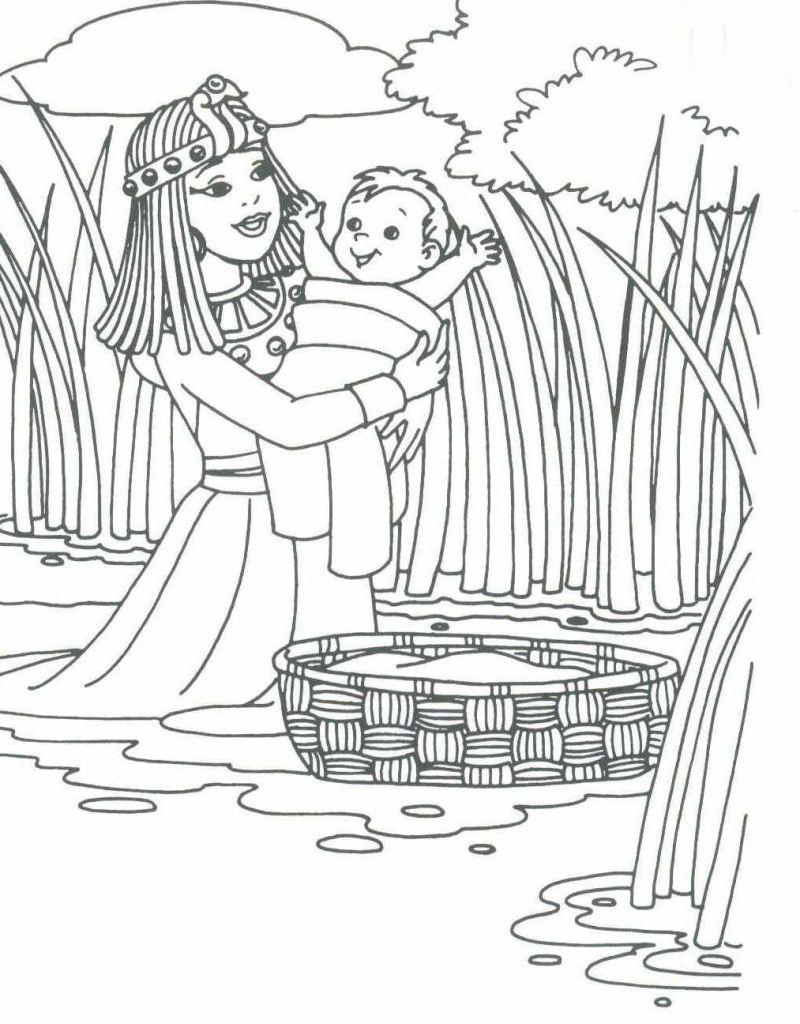 Baby moses, Printable coloring sheets and Coloring sheets