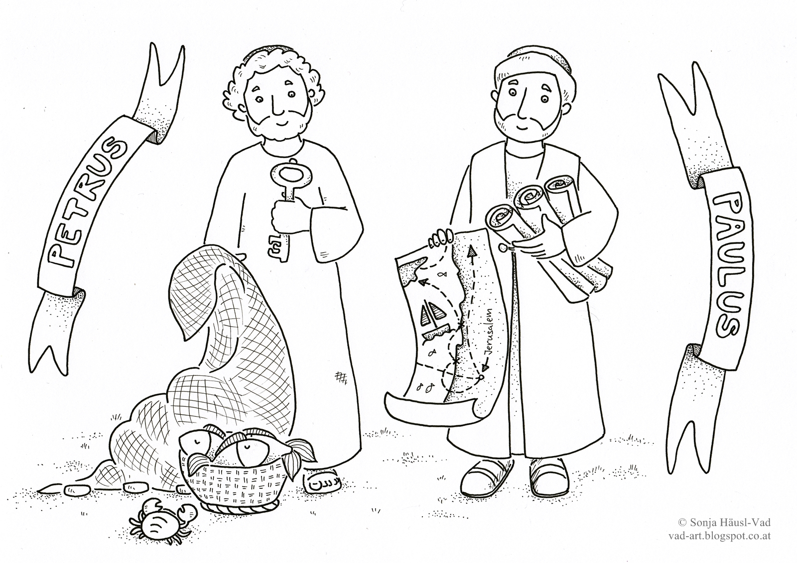 Saint Peter Coloring Pages Coloring Pages