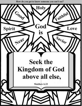 Free Printable Bible coloring pages, church bulletin