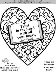Trust In The Lord With All Your Heart Coloring Page