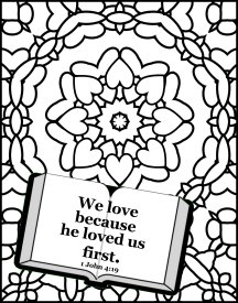 Free Bible coloring pages about love,