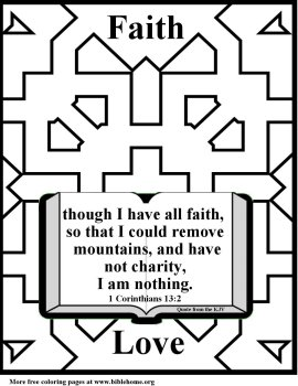 Free Bible (Christian) Coloring pages about Faith, King