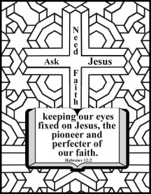 Free Bible (Christian) Coloring pages about Faith, NET Bible
