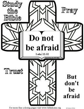 Do Not Be Afraid Jesus Coloring Page Coloring Pages