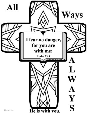 Free Bible coloring pages about fear,