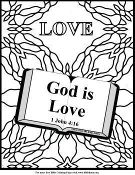 Free Bible Coloring pages about Love, and free Bible