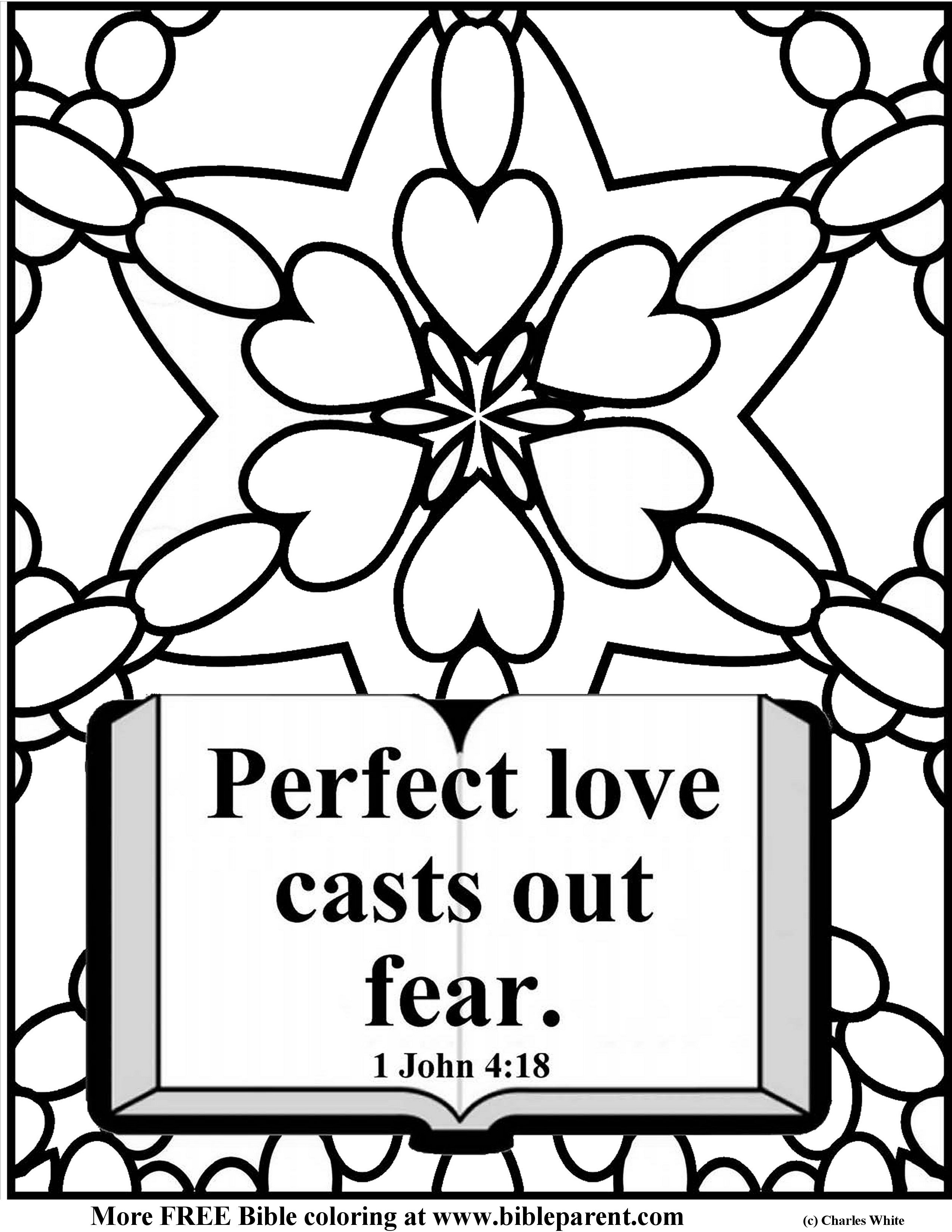 Free Bible coloring pages about love, vbs craft ideas