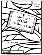 Free Bible coloring pages about Holy Scripture