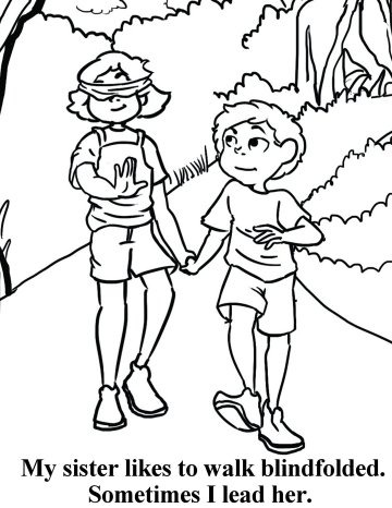 Free coloring book about walking, walking with God.