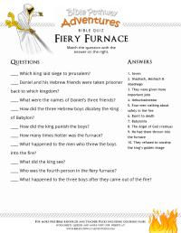 Bible Quiz for Kids: Fiery Furnace | Free Download