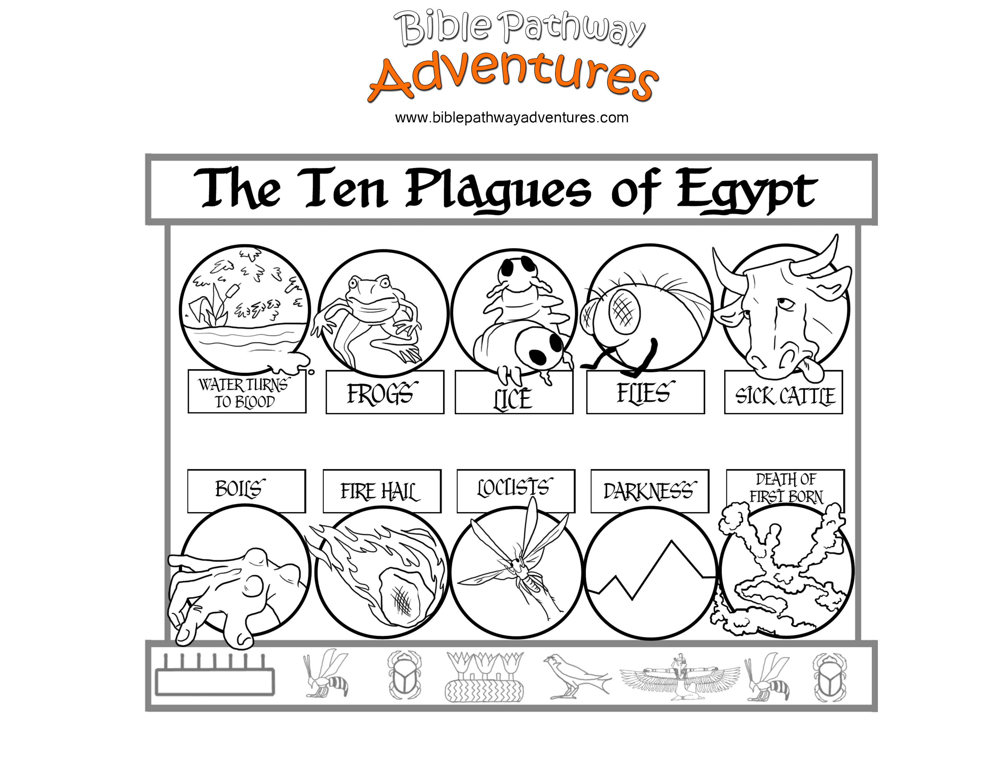 The 10 Plagues Of Egypt For Kids