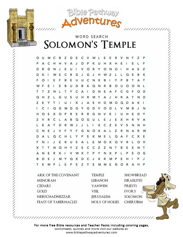Activities Solomons Temple