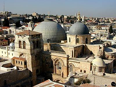 photo of the Church of the Holy Sepulchre from www.bibleplaces.com